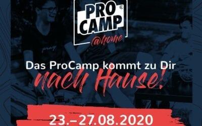 Pro Camp@Home | 23. – 27. August | Jetzt anmelden!