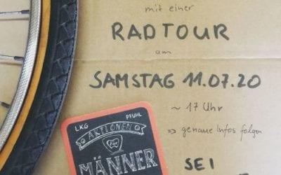 Männerradtour | Sa. 11. Juli | 17:00 Uhr