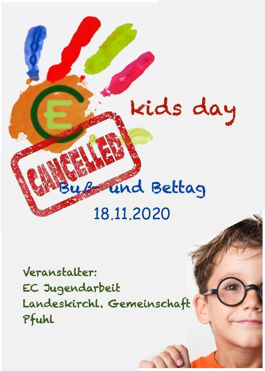 Kids Day abgesagt