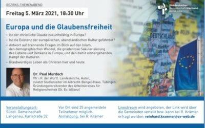 Europa und die Glaubensfreiheit | 05.03.2021